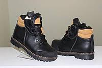 Берегиня зимние ботинки черные кожа мод. 2128
