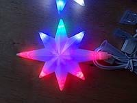 Новогодняя светодиодная ВЕРХУШКА на ёлку мультиколор