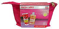 Косметический набор Fresh Juice Pink Sunrise Фруктовый уход (пилинг для тела+масло для массажа)