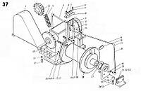 Кожух на стреловую лебёдку экскаватора ЭКГ-5 чертеж 1080.09.20-1СБ(запчасти к экскаватору ЭКГ-5)