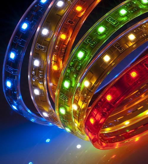 Новогодняя светодиодная гирлянда-лента 10 м, мультицветная(ДиодЛента_лента10-мульт)
