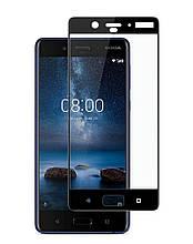 Защитное стекло Full screen PowerPlant для Nokia 8 Black
