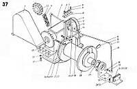 Ось на стреловую лебёдку экскаватора ЭКГ-5 чертеж 1080.09.84(запчасти к экскаватору ЭКГ-5)