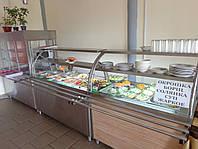 Витрина для салатов охлаждаемая 1800/700/1400 мм, две полки, фото 1