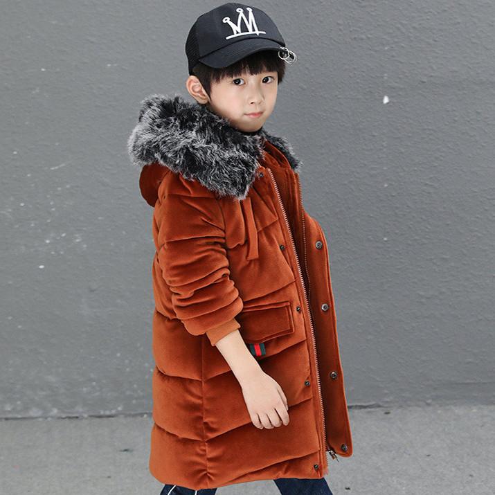 Детская курточка для мальчика, коричневый