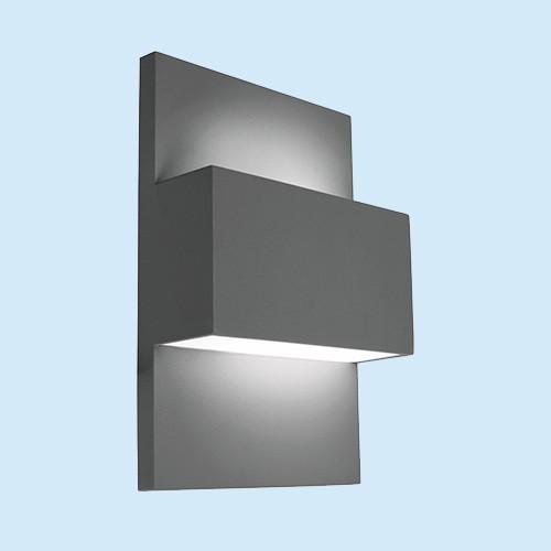 Настенный светильник Norlys Geneve 874GR 1х46Вт E27 графит/металл