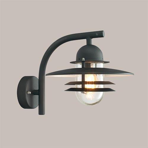 Настенный светильник Norlys Oslo 240В 1х57Вт E27 черный/металл