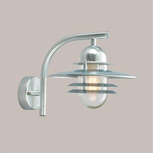 Настенный светильник Norlys Oslo 240GA 1х57Вт E27 серый/металл