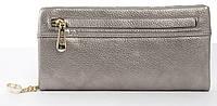 Оригинальныйпрочный удобный женский кошелек барсетка высокого качества Fuerdanni art. J-2506 серебро, фото 1