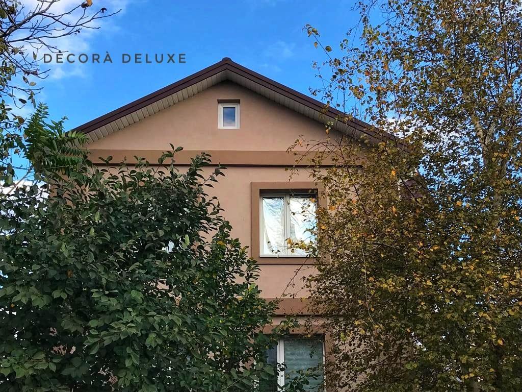 Фасад из акриловой декоративной штукатурки ТМ Kraurol