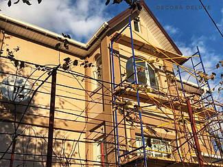 Фасад из акриловой декоративной штукатурки ТМ Kraurol 7