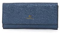 Стильныйженский прочный кошелек из эко кожи с красивым блескомFuerdanni art. J1816 синий, фото 1