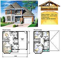 Проект каркасно-щитового дома с заполнением 126,7 м2. Проект дома бесплатно при заказе строительства