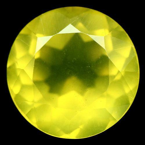 4.60 кт. Природний жовтий мексиканський опал коло