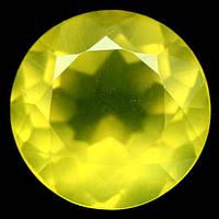 4.60 кт. Природний жовтий мексиканський опал коло, фото 1