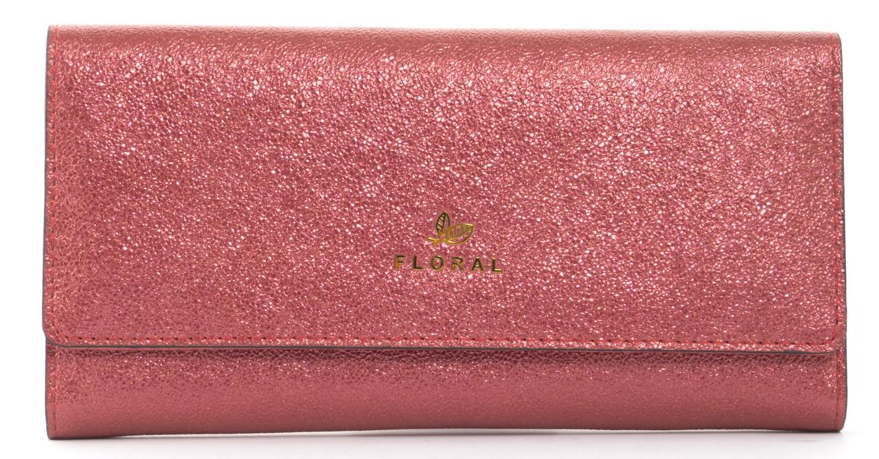 Стильныйженский прочный кошелек из эко кожи с красивым блескомFuerdanni art. J1816 красный