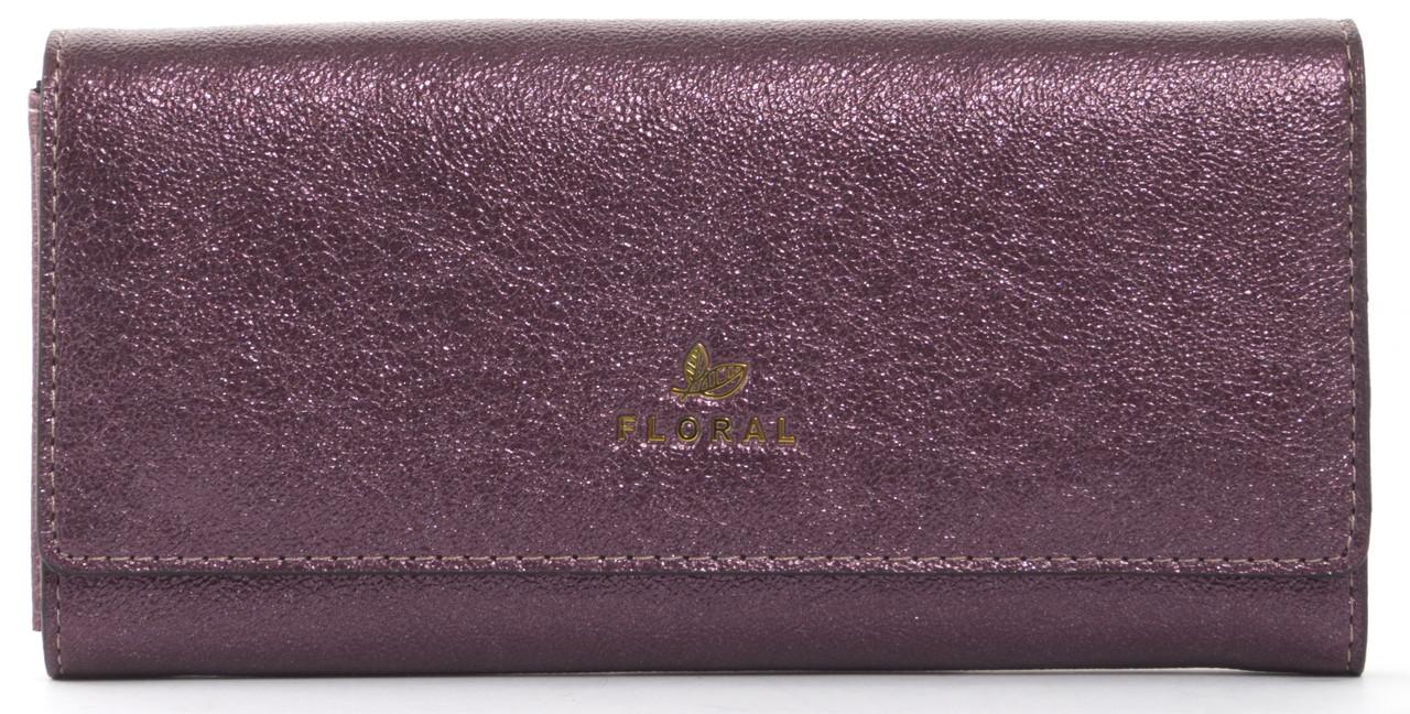 Стильныйженский прочный кошелек из эко кожи с красивым блескомFuerdanni art. J1816 фиолетовый