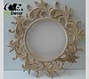 Зеркало в ванную белое с золотом Varna, фото 6