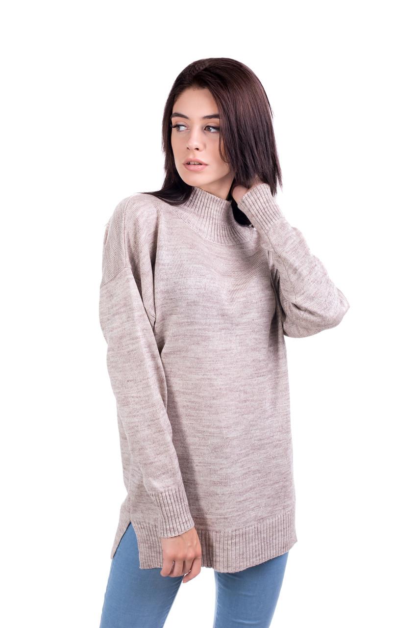 d8618b5d48b Теплый удлиненный свитер оверсайз 44-46