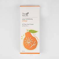 Солнцезащитный крем The Yeon Jeju Hallabong Energy All day Sun Cream SPF 50+/PA+++ 50 мл, фото 3