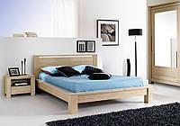 """Двухспальная кровать из массива дерева """"Енрико"""""""