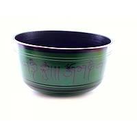 Чаша поющая темно зеленая (d-21 см h-11 см) ( 32341B)