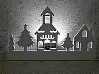 Новогодний декор для окон Панорама №9. 100 см. Толщина 3 см.