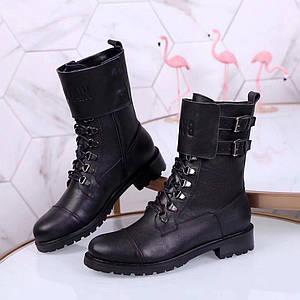 Женские демисезонные ботинки Balmain натуральная кожа/замша