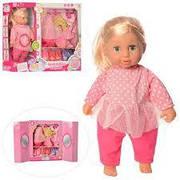 Кукла пупс со звуком и нарядами  , мягконабивная со шкафчиком