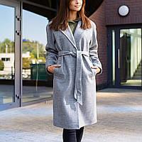 Пальто оверсайз женское серое Коруна (Koruna) c5a8766400253