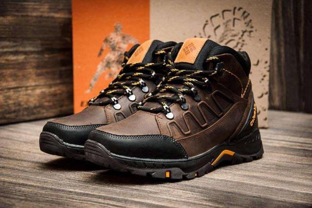 Купить Мужские зимние кожаные ботинки Columbia NS Chocolate недорого ... e662298179c