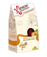 Цукерки в шоколаді «Курага з горіхом» зі стевією, 150 г