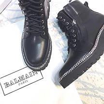 Женские демисезонные ботинки Balmain Paris натуральная кожа/замша, фото 2