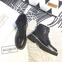 Женские демисезонные ботинки Balmain Paris натуральная кожа/замша, фото 3