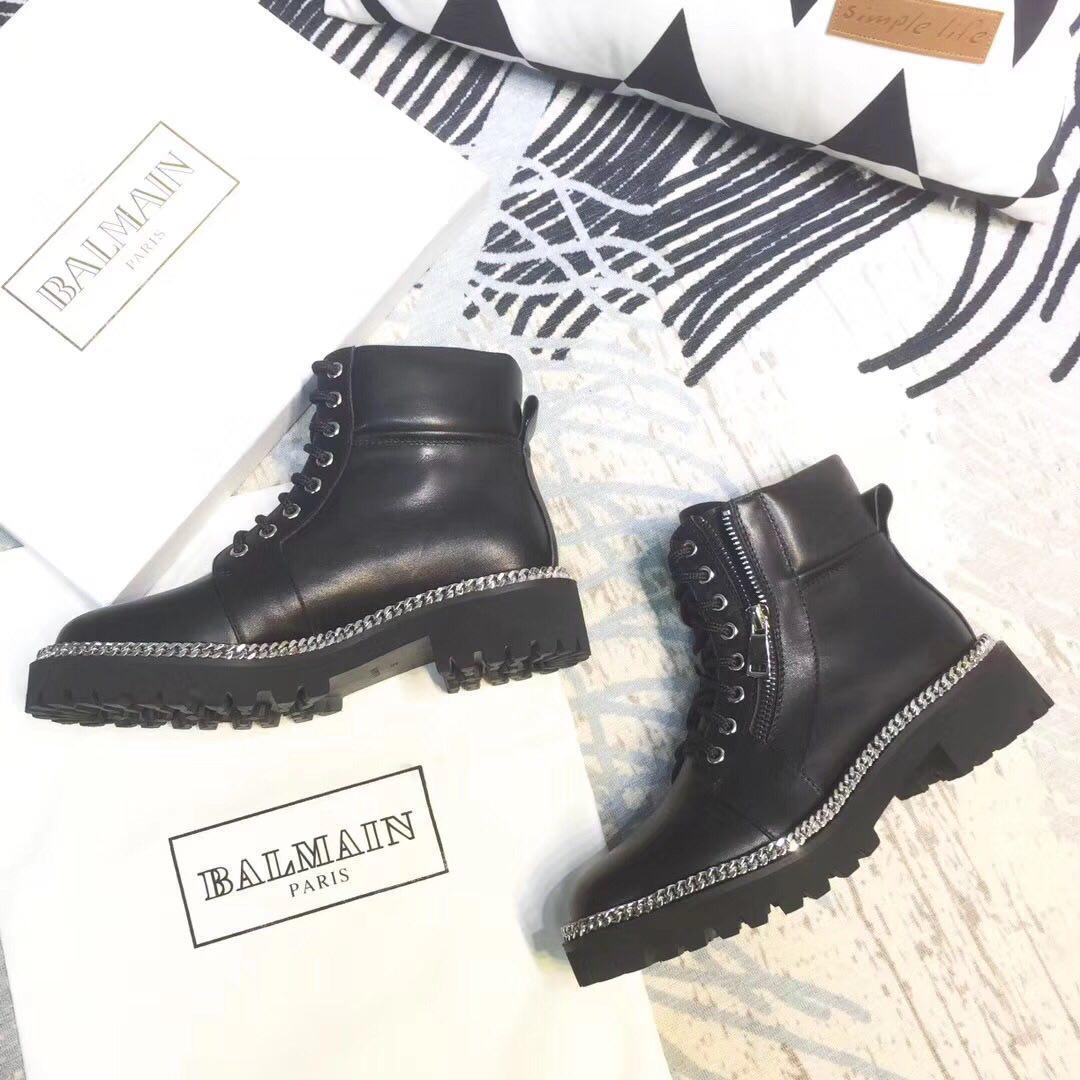 Женские демисезонные ботинки Balmain Paris натуральная кожа/замша
