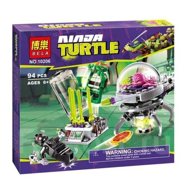 Bela 10206 Черепашки Ниндзя Побег Крэнга из лаборатории Лего 79100