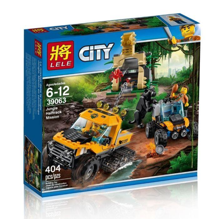 Конструктор LELE 39063 Миссия Исследование джунглей LEGO City 60159