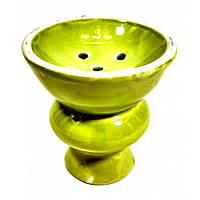 Чашка для кальяна керамическая бордовая (d-6,5, h-7 см) ( 21434E)