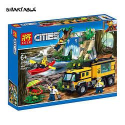 Конструктор LELE 39064 lego Передвижная лаборатория в джунглях city