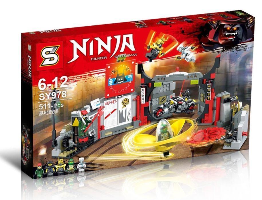 Конструктор Ninjago SY978 Штаб-квартира сыновей Гармадона LEGO 70640 ниндзяго