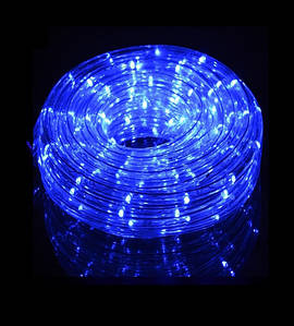 Новогодняя светодиодная гирлянда-лента 10 м, синяя(ДиодЛента_лента10-син)