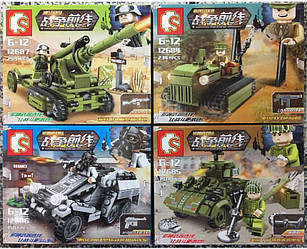 Конструктор Sembo 12684-12687 танк бронетранспо гаубица лего lego swat