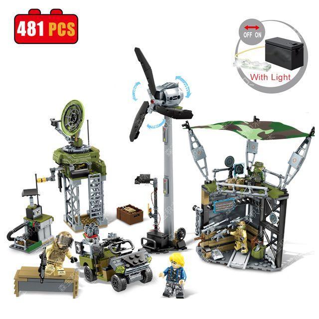 Конструктор Sembo 11701 База спецназа в пустыне lego лего city