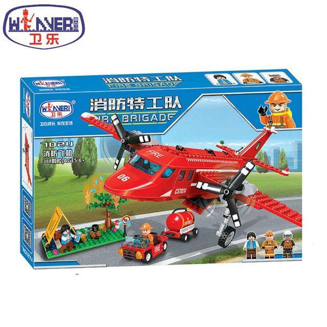 Конструктор winner 7024 пожарный самолет лего city lego 4209