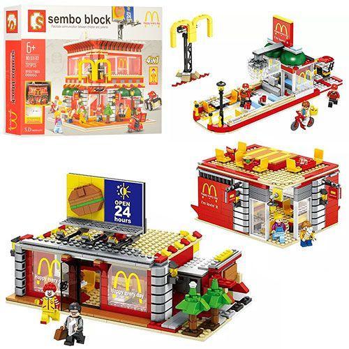 Конструктор Sembo Block McDonald's 4 в 1 (SD6901) lego лего city
