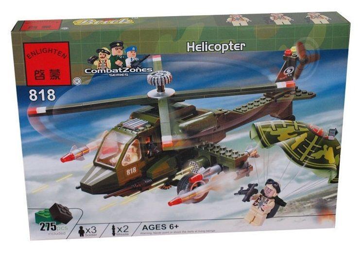 Конструктор Brick 818 Военный вертолет лего lego city