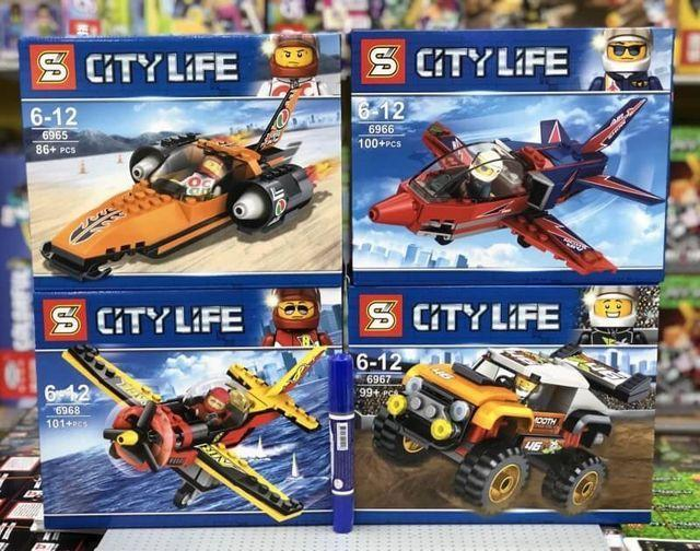 Конструктор SY6965-6968 лего Lego technic city самолет джип