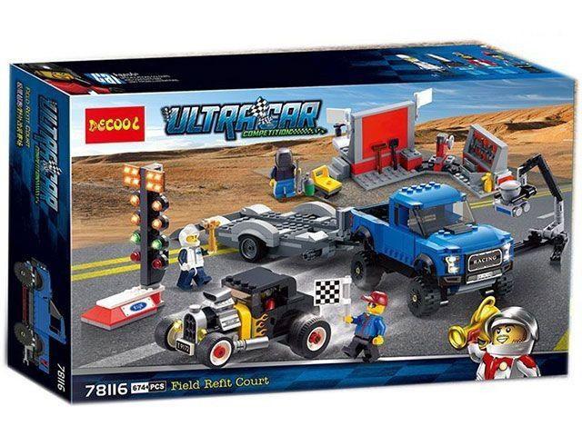 Конструктор Decool 78116 Lego 75875 Форд F-150 и Форд Model A Hot R