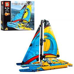 Конструктор SY7000 (18шт) 2в1, парусник, 370дет лего lego technic