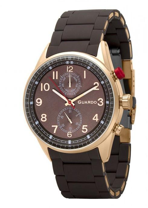 Чоловічі наручні годинники Guardo P11269(m) RgBrBr